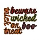663093 - Sizzix Thinlits Die Set 12PK - Shadow Script Halloween by Tim Holtz